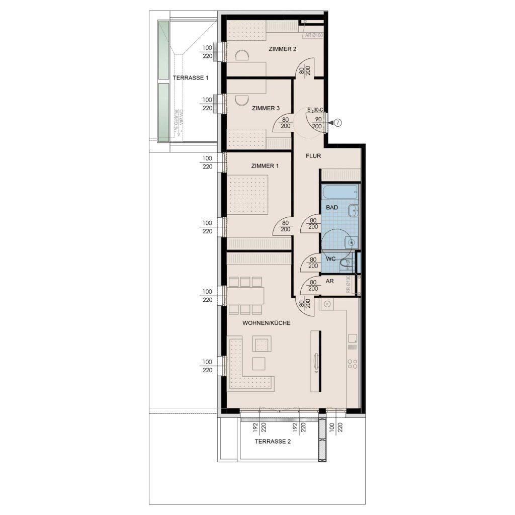 Wohnungsplan Haus 1 / Top 07