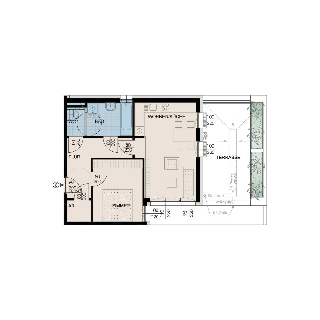 Wohnungsplan Haus 2 / Top 08