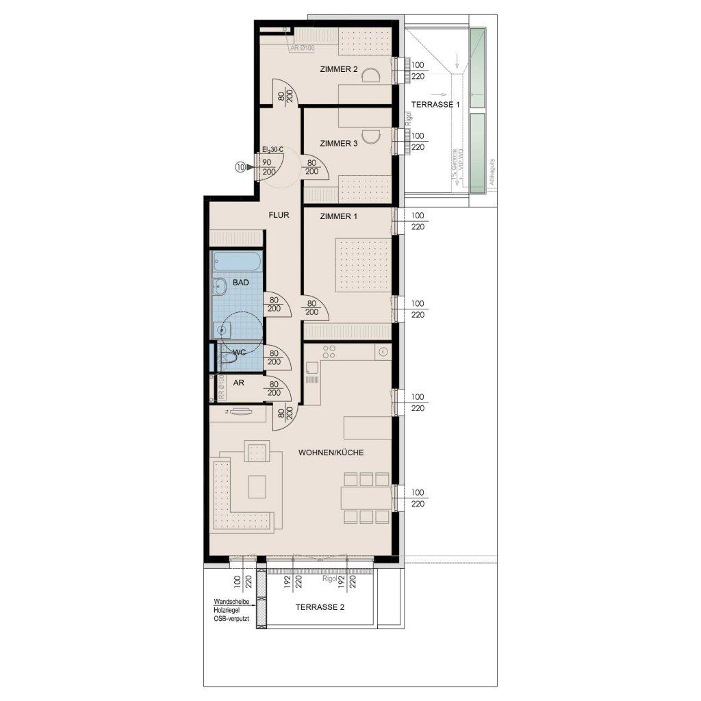 Wohnungsplan Haus 2 / Top 10