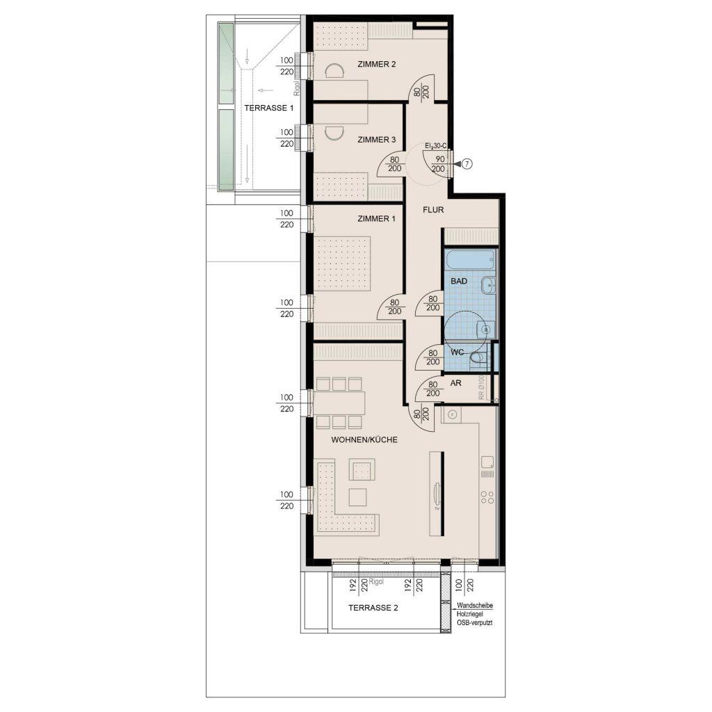 Wohnungsplan Haus 3 / Top 07