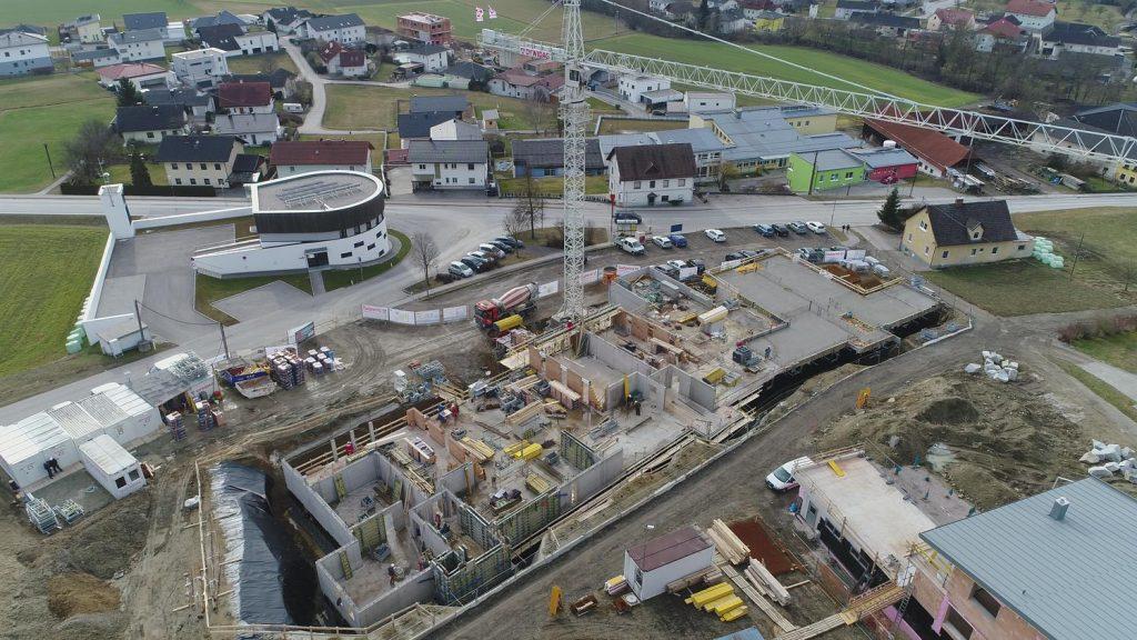 Luftaufnahme Baufortschritt - Eigentumswohnungen Unterweitersdorf